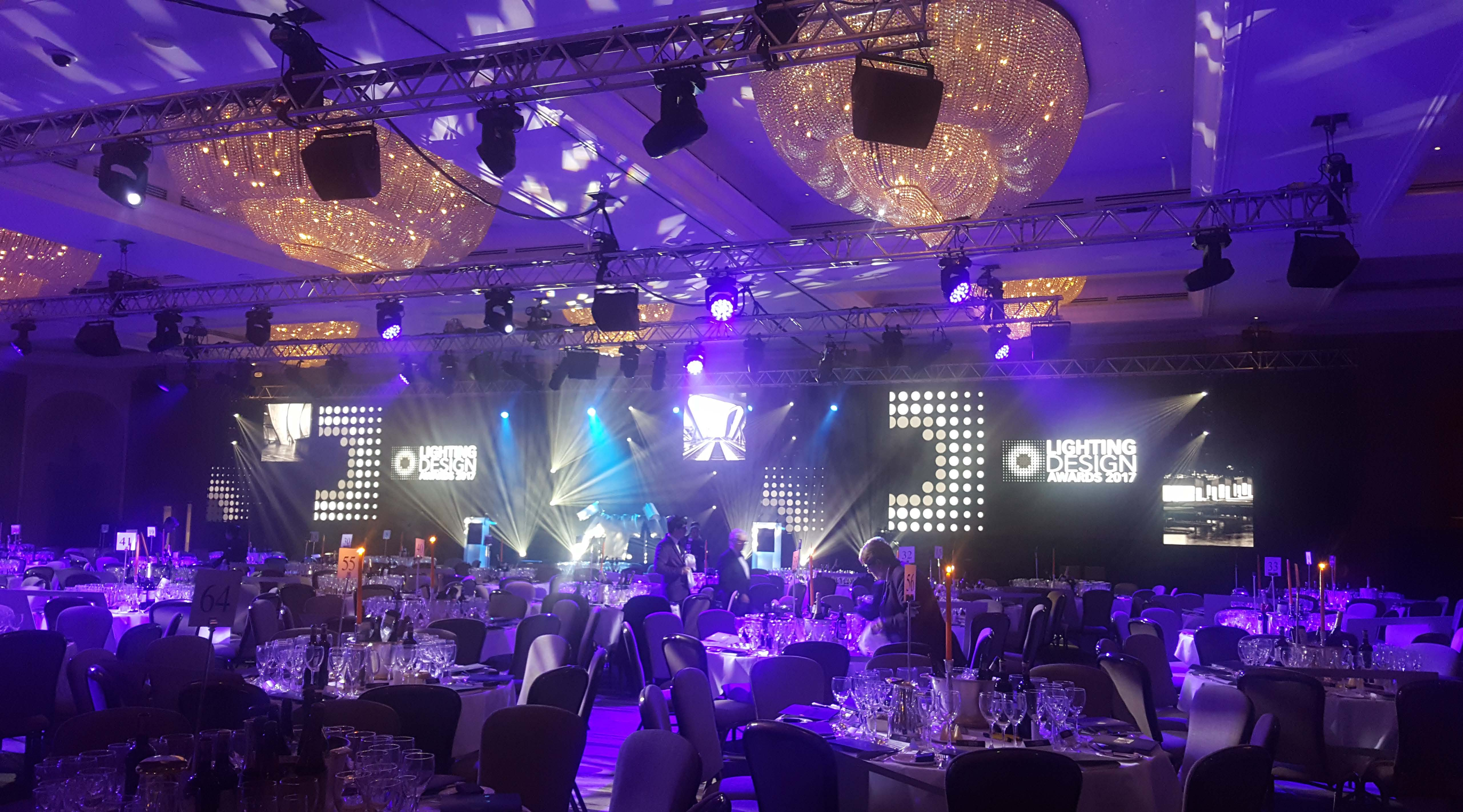 Lighting design awards hilton park lane london stagecraftuk